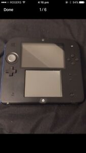 Blue and Black Nintendo 2DS