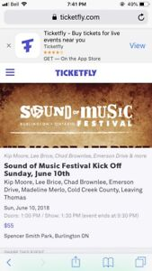 Sound of music festival kick off Sunday general admission