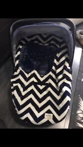Minky car seat cover
