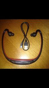 MP3 Wireless Headset (Red/Black)