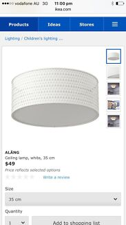 IKEA light fitting and cover