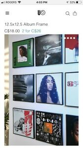 Vinyl album frames from Urban outfitters