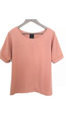 ICHI - Top Short Sleeves Pink Size M Salmon Colour Blouse