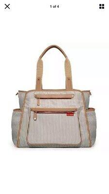 NWOT Skip Hop Grand Central Take-It-All Diaper Bag - Missing Pad - French Stripe