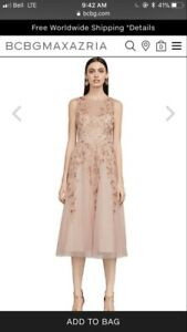 BCBG butterfly embroidered dress