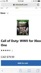 Call of duty world war 2 for Xbox One