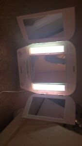 Light up double sided mirror