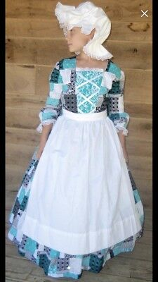 Historical Pioneer Dress Costume Girls Size 10/12 - Historical Costumes For Girls