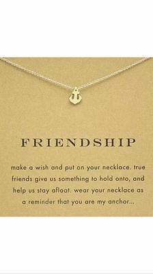 Anchor Necklace Nautical Jewelry Gold Dipped Friendship Gift 16-18