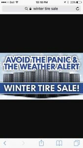 Winter tire sale !!!!  Good drive to work this morning ?