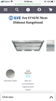 Brand new ILVE 70cm Rangehood- never used