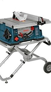 Bosh table saw with wheeled stand