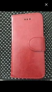 Iphone 5,5S or SE Brown Leather wallet/case Like new