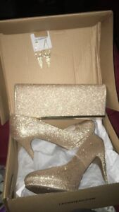 Prom shoes and clutch