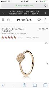 Brand New Pandora 14K gold ring