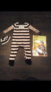 Jail baby Halloween costume size 18-24 months