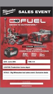 Milwaukee tool Event!