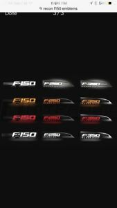 09-14 recon f150 light up side emblems