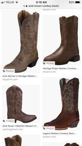 Wanted: Women's brown cowboy boots size 7.5 and 8.5