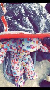 deux par Deux baby girl snowsuit set