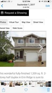 Half Duplex for sale by Owner