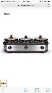 """TRU"" 3 x 2.5 Quart Slow Cooker Buffet Server  London Ontario image 2"