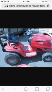 Wanted: riding lawnmower