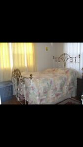 Vintage Brass/Iron Double Bed Frame