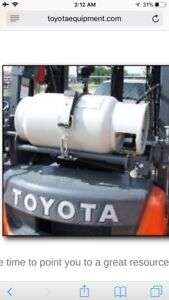 Forklift propane tanks good condition quick fills call for info