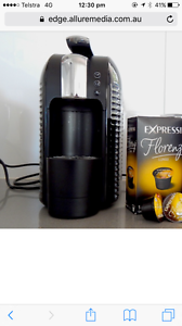 Aldi expressi coffee pod machine with pods and milk frother Caulfield North Glen Eira Area Preview
