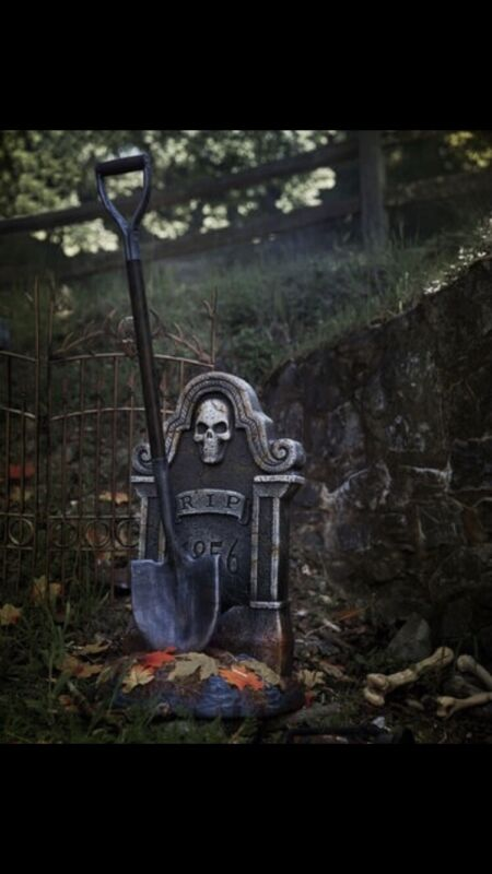 HAUNTED SHOVEL TOMBSTONE SPIRIT HALLOWEEN ANIMATRONICS