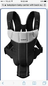 Gently used Babybjorn infant Carrier with back support