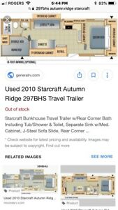 2010 Starcraft AutumnRidge Trailer 297 BHS Model $18,000 OBO