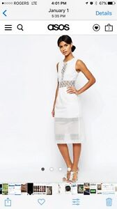 White dress. Size 6. From ASOS
