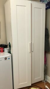 White IKEA Two Door Wardrobe in Mint Condition