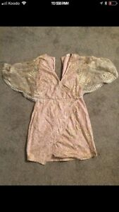 Stunning New Year's Eve/Christmas dress. Nude/sparkle/embroidery