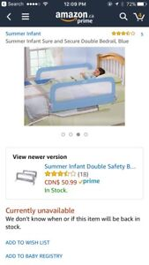 Bedrails by summer infant. Double safety.
