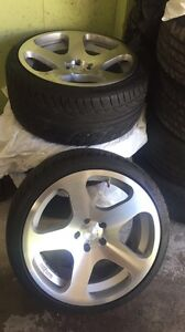 """19"""" mags like new no scratch tires 10/10"""