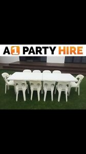 Chair and table party hire cheapest on the coast Chain Valley Bay Wyong Area Preview