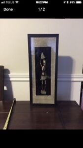 Shadow box picture of African lady