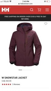 Women's small Helly Hansen Ski jacket brand new with tags