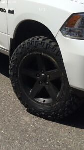 Nitto trail grapplers and Dodge Ram sport rims