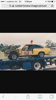Wanted basket case  torana hatch for parts
