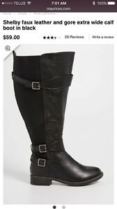 Size 9 Wide Calf Boots - NEW