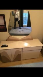 Bedroom set night tables and head board also night stand