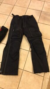 Motorcycle jacket, pants and boots