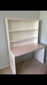White and pink upright desk Eastwood Ryde Area Preview