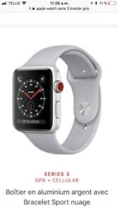 Apple Watch série 3 GPS+CELLULAIRE 42mm