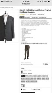Calvin Klein Charcoal Grey 2-Piece  Suit