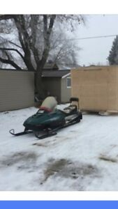 Trade sled for 3/4 ton or bigger or double axle trailer.